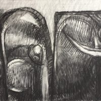 George Wallace - Pits, 1984, charcoal #12