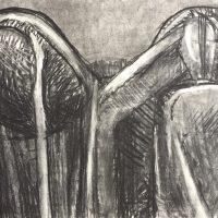 George Wallace - Clay Pits, charcoal #13