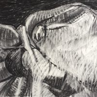 George Wallace - Pit Forms, charcoal #14