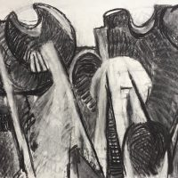 George Wallace - Clay Pits, charcoal #15