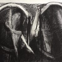 George Wallace - Twin Forms, charcoal #17