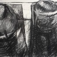George Wallace - Twin Forms, 1984, charcoal #18,