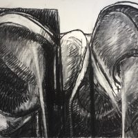 George Wallace - Twin Forms, charcoal #20