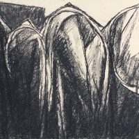 George Wallace - Four Pits, charcoal #23