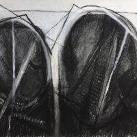 George Wallace - Twin Forms, charcoal #4