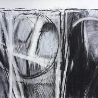 George Wallace - Pit, charcoal and white chalk #6
