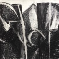 George Wallace - Pit, charcoal #7