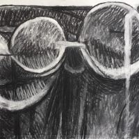George Wallace - Three Forms, 1984, charcoal and white chalk #8