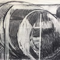 George Wallace - Pit, charcoal #9