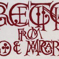 George Wallace - Christmas Card 2, linocut
