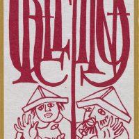 George Wallace - Christmas Card 3, linocut