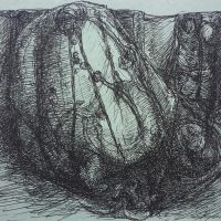 George Wallace - Rock Forms, pen and ink