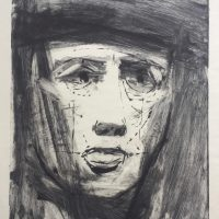 George Wallace - Head of a Man, 1955, monotype
