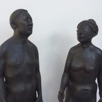 George Wallace - A Man and a Woman, bronze, cast posthumously