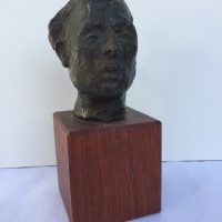 George Wallace - Man's Head, bronze