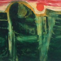 George Wallace - Abstract Landscape #4, watercolour