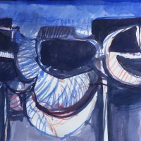 George Wallace - Abstract Landscape #8, watercolour