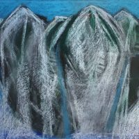 George Wallace - Abstract Landscape #11, pastel