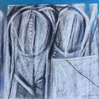 George Wallace - Abstract Landscape #14, pastel
