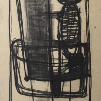George Wallace - Study for Woman in a Chair, 1956, charcoal