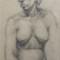 George Wallace - Model, 1947, pencil