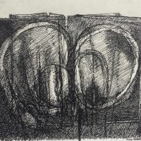 George Wallace - Joined Forms, ink drawing