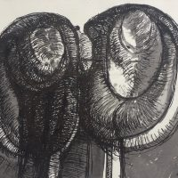 George Wallace - Joined Forms, ink and wash