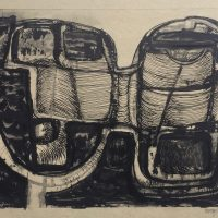 George Wallace - Joined Forms, monotype with ink counterproof