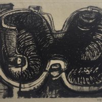George Wallace - Joined Forms, monotype with ink