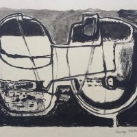 George Wallace - Joined Forms, 1956, monotype worked with ink