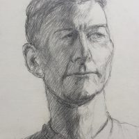 George Wallace - Portrait of Ken Slater, c.1994, pencil