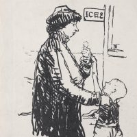 George Wallace - Ices (Woman and Boy), c.1954, lithograph