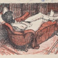 George Wallace - Model on a Sofa, 1954, lithograph