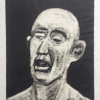 George Wallace - Bald Man, monotype