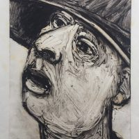 George Wallace - Man Looking to the Left, 1988, monotype