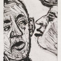 George Wallace - Confrontation II, 1989, monotype