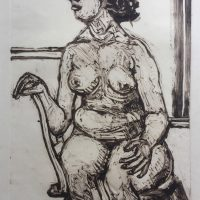 George Wallace - Nude on a Chair I, 1989, monotype