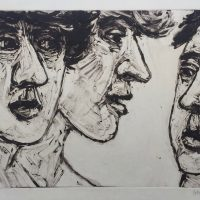 George Wallace - Intimate Conversation II, 1989, monotype
