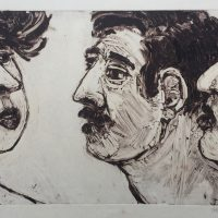 George Wallace - Intimate Conversation III, 1989, monotype