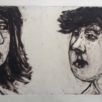 George Wallace - Intimate Conversation IV, 1989, monotype