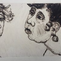 George Wallace - Intimate Conversation V, 1989, monotype