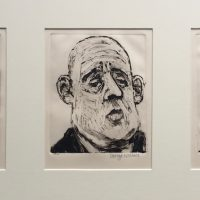George Wallace - Three Businessmen, 1991, three monotypes
