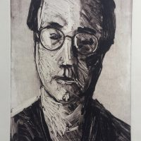 George Wallace - Photographer, 1989, monotype