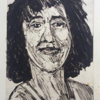 George Wallace - Smiling Woman, 1989, monotype