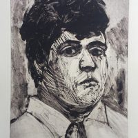 George Wallace - Fat Man, 1989, monotype