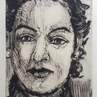 George Wallace - Woman, 1989, monotype