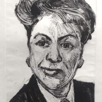 George Wallace - Businesswoman, 1989, monotype