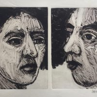 George Wallace - Man & Woman, 1989, monotype
