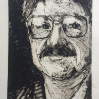 George Wallace - Insurance Man, 1989, monotype