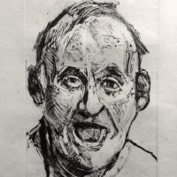 George Wallace - Charenton Revisited 5: Head of a Man With an Open Mouth, 1991, monotype